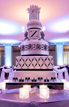 Gorgeous wedding cake featured on WE TV's Amazing Wedding Cakes- reception at the Silver Grille:cake by White Flower Cake Shoppe -photo by Z media