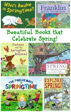 Spring books kids will love & that celebrate the joy of the season!  Books for kids | Spring reading activities