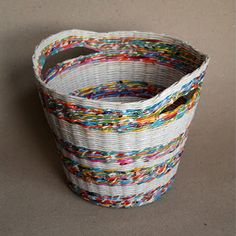 Weave your own baskets from recycled newspaper!