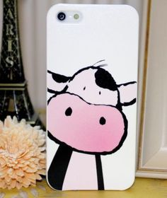 CUTE CARTOON COW PRINT MOBILE PHONE CASE COVER FOR IPHONE SAMSUNG HTC SONY | eBay