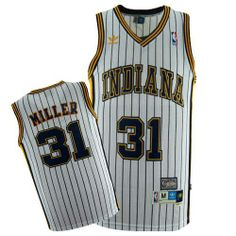 Reggie Miller jersey-Buy 100% official Mitchell and Ness Reggie Miller Men's Authentic White Jersey Throwback NBA Indiana Pacers #31 Free Shipping.