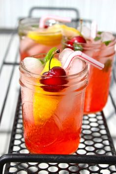 Summer Cocktail Recipe:  Sweet & Sour Cherry Sparkler   10-Minute Happy Hour
