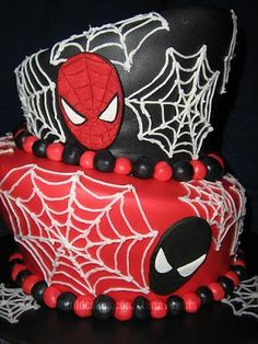 Spiderman and Venom birthday cake