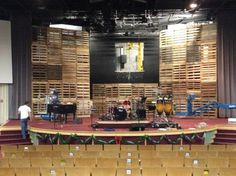 Towers of Pallets | Church Stage Design Ideas
