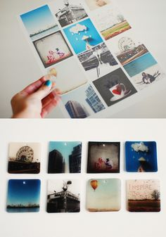 Shrink Photos. I wonder how you'd do this? Can you print right on the Shrinky dink plastic?