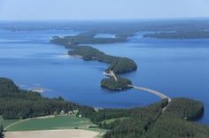 Pulkkilanharju,sillat, kahvio ja luontopolku Finland