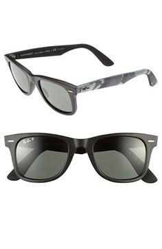 classic wayfarer  Women\u0027s Ray-Ban \u0027Classic Wayfarer - Leather\u0027 50mm Sunglasses ...