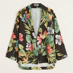 MANGO | Veepee Kimono Jacket, Kimono Top, Batwing Sleeve, Long Sleeve, Mango, Bat Wings, Cotton Fabric, Tropical, Sleeves