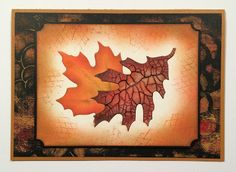 #Cre8time for maple and oak leaves with crackle paste.  Stampendous #DWstencils