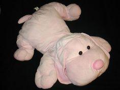 "Toys R Us Sammie Pup Pink Plush Stuffed Animal Puppy Dog 26"" Large Big Jumbo"