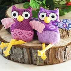 Learn to make cute owl dolls with this tutorial and free sewing pattern.