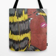 lightning comic girl (grain effect) Tote Bag by Pretty Rose Petal - $22.00 #home #decore #textiles #homedecore #art #illustration #newdesign #design #comicgirl #popart #superhero #comicbook #colour #hair #lightning #bright #bold #blackcomic #followme