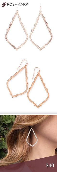 KS Sophee earrings in rose gold Very good condition! Kendra Scott Jewelry Earrings