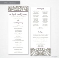 Abrielle Wedding Program (Printable)