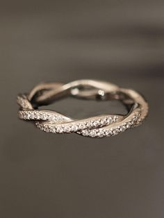 Double Twist Eternity Band- I'd love this in white gold