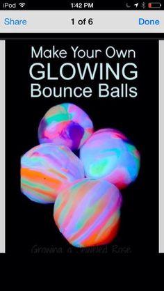 DIY Glowing Bounce Balls #Kids Activities #Trusper #Tip