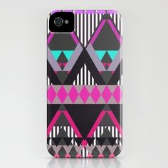 Charcoal Snow Tribal Pattern  iPhone Case / iPhone (4S, 4)  by Gabriel Ramos on Society6