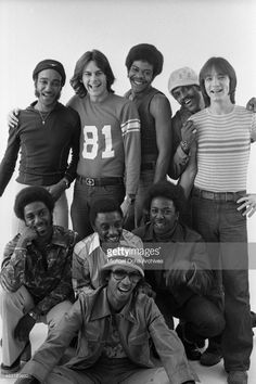 Funk group 'KC and the Sunshine Band' poses for a portrait on Oc tober 7, 1975 in Los Angeles, California.