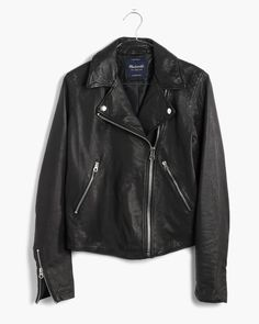 madewell washed leather swing jacket.