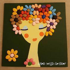 30x30 cm. #satilik #tasboyamasanati #tastasarim #stonepainting #stoneart #genclik #genckiz #mademoiselle #girl #cicekler #guzellik #tablo #dekorasyon #evimevimgüzelevim #homedecor #renkler #flovers #duvarsusu #eskisehir #art #elemegi #handmade