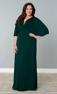 Charlize Maxi Dress, Green with Envy (Womens Plus Size) From The Plus Size Fashion At www.VinageAndCurvy.com