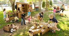 If all classrooms had outdoor spaces like this children might want to be outside more...