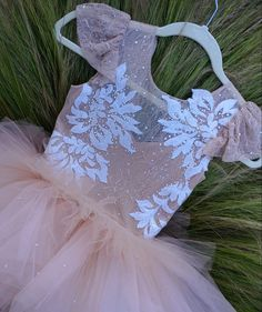 Items similar to Stunning 'Stargazer' champagne tan/ blush couture dress with cap sleeve, chantilly lace and all over swarovski crystal on Etsy Baby Girl Party Dresses, Little Girl Dresses, Wedding Party Dresses, Flower Girl Dresses, Kids Gown, Olive Dress, Princess Outfits, Baby Gown, Ball Gown Dresses