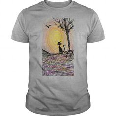 This halloween tee shirt will be a great gift for you or your friend who loves cats and reading books:  halloween black kitty cat TShirts Tee Shirts T-Shirts
