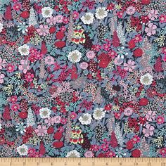 From the world famous Liberty Of London, this exquisite cotton lawn fabric is finely woven, light weight and ultra soft. This gorgeous fabric is oh so perfect for flirty blouses, dresses, lingerie, tunics, tops and more. Colors include pink, grey, light yellow, turquoise and charcoal.