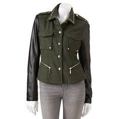 J2 by Jou Jou Studded Faux-Leather Jacket - Juniors