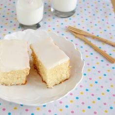 Super tender coconut cake with coconut icing