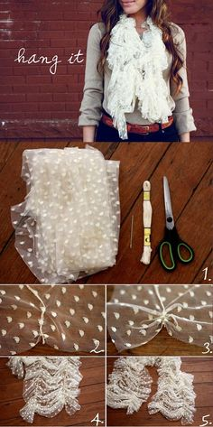 Chic Lace Scarf – DIY