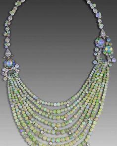David Morris opal necklace