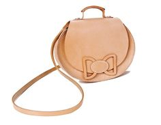Minimalist, undyed leather balances this bag's girlish details in the coolest way. #etsyfashion #etsyfinds