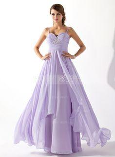 Corte A/Princesa Escote corazón Vestido Gasa Vestido de baile de promoción con Volantes Bordado