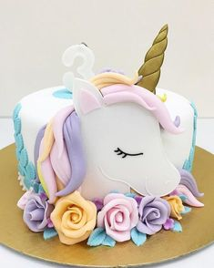 Birthday is a special day for everyone, and a perfect cake will seal the deal. F… Birthday is a special day for everyone, and a perfect cake will seal the deal. Fantasy fictions create some of the best birthday cake ideas. 7th Birthday Cakes, Unicorn Birthday Parties, Unicorn Party, Birthday Kids, Unicorn Themed Cake, Women Birthday, Unicorn Cake Topper, Birthday Month, Unicorne Cake