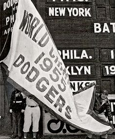 1955 World Series Banner: A History of New York in 50 Objects.  From the New York Times.