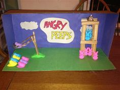 2013: Angry Peeps diorama from Robbie and Sean Neal smartmagpa.com/peeps #contest #easter