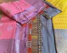 Saree Jacket Designs, Saree Tassels Designs, Saree Kuchu Designs, Wedding Saree Blouse Designs, Silk Saree Blouse Designs, Fancy Blouse Designs, Blouse Neck Designs, Bridal Silk Saree, Silk Sarees