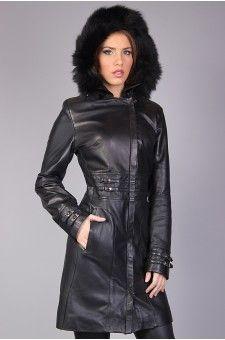Veste fourrure noir femme http://www.prestigecuir.fr