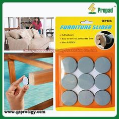 Adhesive Slide Mover Furniture Glides S3Y30T Sticking It Under The Legs Of Heavy  Furniture Or Other