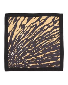 Valentino Animal-Print Square Silk Scarf, Black/Multi