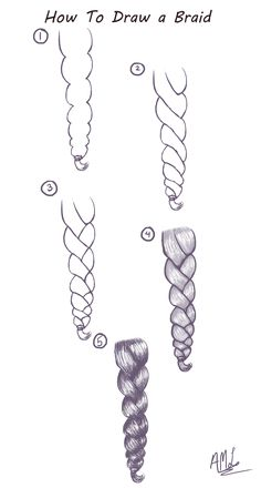 How To Draw a Braid: Here is a quick and easy Tutorial on how to draw a Braid.