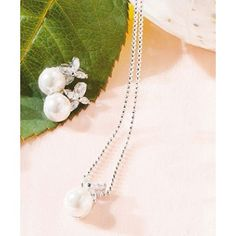 Flower & White Pearl Jewelry 2 Peice Set $84.95