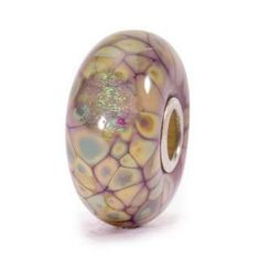 Trollbeads Purple Flower Mosaic Glass Charm Bead