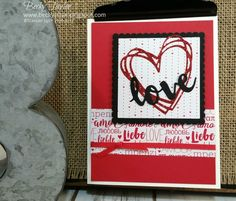 Creating with Becky's Stamping Spot | blog CASE'd from Lynn Tague, Stampn' Up! Sunshine Wishes, Sending Love, Valentines,