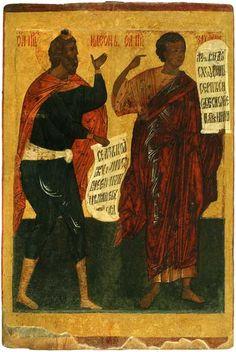 Пророки Захария и Гедеон Russian Icons, Black Art, Saints, Bible, Whitewash, Oc, Paintings, Image, Beautiful