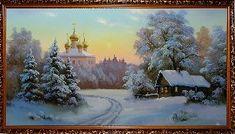 Маленькая деревушка - Зимний пейзаж <- Картины маслом <- Картины - Каталог   Универсальный интернет-магазин подарков и сувениров