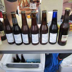 箕面ビールの背中。