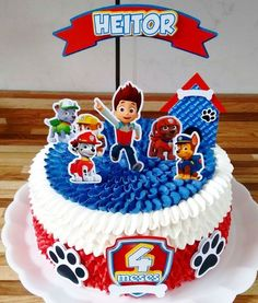 Cake Disney Birthday Mice Ideas For 2019 Paw Patrol Torte, Paw Patrol Cake Toppers, Paw Patrol Birthday Cake, Party Decoration, Cakes For Boys, Party Cakes, Birthday Parties, Ideas Para, Fiestas Party